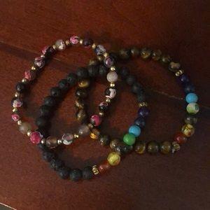 Jewelry - Stretchy beaded bracelets. Like New. Super cute